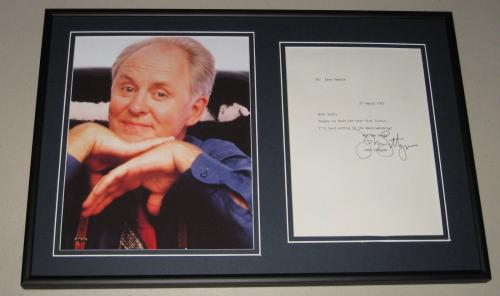 John Lithgow Signed Framed 1985 Letter & Photo Display 3rd Rock From the Sun