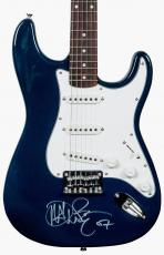 John Mayer Autographed Fender Guitar. Nicely signed on body.  PSA DNA COA