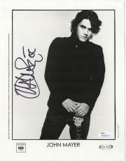 John Mayer signed autographed 8x10 Columbia 2006 promo photo! RARE! JSA COA!