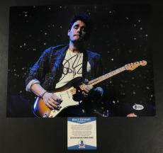 John Mayer Signed 'playing Guitar Live On Stage' 11x14 Photo Bas Coa Beckett
