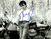 "John Mellencamp Autographed 11"" x 14"" Leaning On Motorcycle Photograph - Beckett COA"