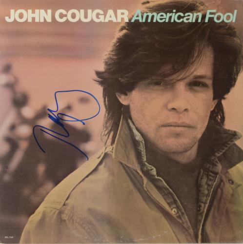 John Mellencamp Autographed American Ford Album Cover - PSA/DNA COA