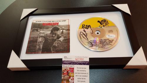 John Mellencamp Framed Autographed Scarecrow Cd Signed Jsa Authenticated