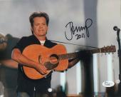 JOHN MELLENCAMP HAND SIGNED 8x10 COLOR PHOTO     GREAT IN CONCERT POSE       JSA