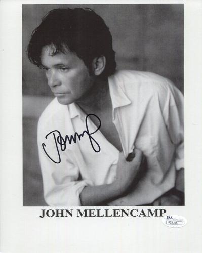 JOHN MELLENCAMP HAND SIGNED 8x10 PHOTO       GREAT ROCK+ROLL SINGER       JSA
