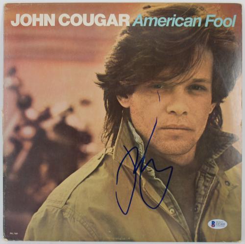 John Mellencamp Signed American Fool Album Cover W/ Vinyl BAS #E85408