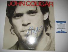 JOHN MELLENCAMP Signed JOHN COUGAR Album w/ Beckett COA