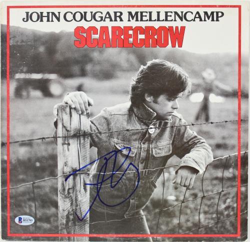 John Mellencamp Signed Scarecrow Album Cover BAS #B51793