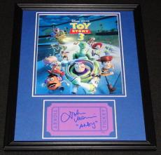 Autographed John Morris Picture - Framed Toy Story 11x14 Display Voice of Andy