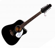 John Ozzy Osbourne Autographed 12-String Acoustic Guitar UACC RD COA AFTAL