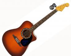 John Ozzy Osbourne Signed Fender Ac/El Guitar UACC RD COA AFTAL
