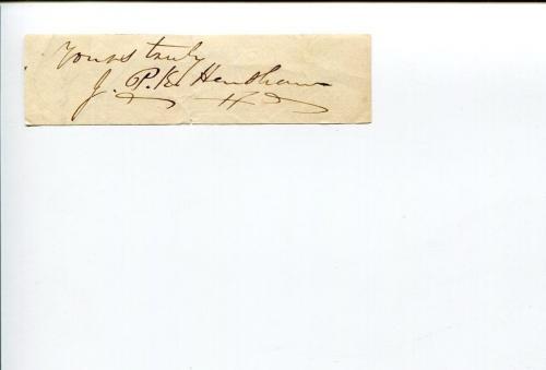 John Prentiss Kewley Henshaw 1st Bishop Episcopal Rhode Island Signed Autograph