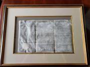 John Quincy Adams Jsa Cert Hand Signed 1828 Document Autograph