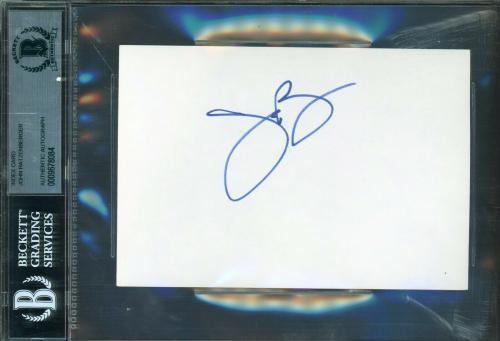 John Ratzenberger Signed 4x6 Index Card Beckett BAS Slabbed Cheers