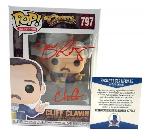 John Ratzenberger Signed Autograph 'cheers' Funko Pop Cliff Beckett Bas 13