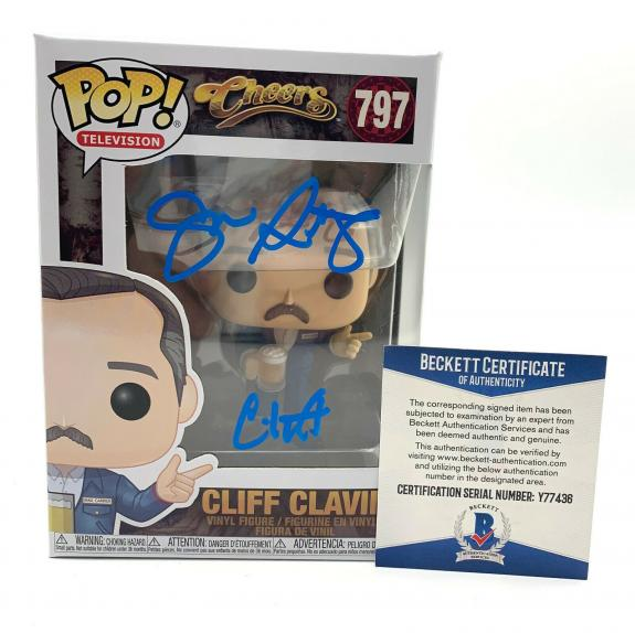 John Ratzenberger Signed Autograph 'cheers' Funko Pop Cliff Beckett Bas 36