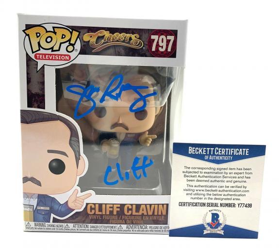 John Ratzenberger Signed Autograph 'cheers' Funko Pop Cliff Beckett Bas 37