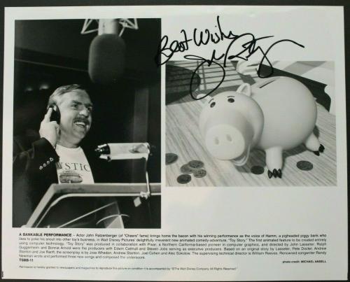 John Ratzenberger Signed Autographed 8x10 Photo HAMM in TOY STORY Pixar Disney