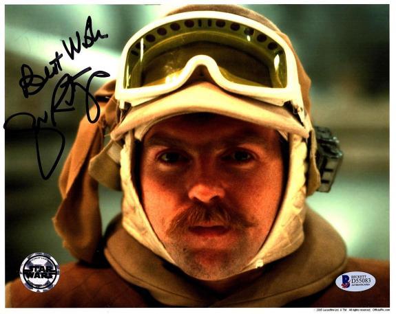 JOHN RATZENBERGER Signed STAR WARS Official Pix 8x10 Photo BECKETT BAS #D55083