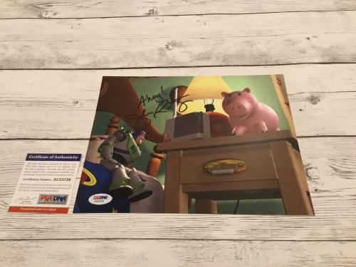 John Ratzenberger Signed Toy Story 8x10 Photo Hamm PSA/DNA COA Autographed c