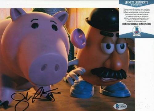 JOHN RATZENBERGER signed (TOY STORY) Movie Hamm 8X10 photo BECKETT BAS Y77629