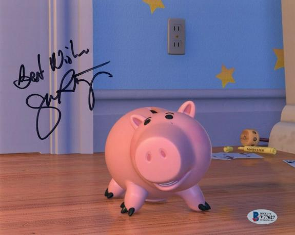 John Ratzenberger Toy Story Hamm Signed 8x10 Photo w/Beckett COA V77627