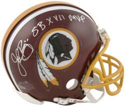 John Riggins Washington Redskins Autographed Riddell Mini Helmet with SB XVII MVP Inscription