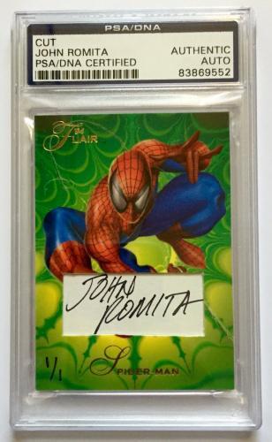 John Romita Amazing Spider Man Signed Custom CARD #'d 1/1 PSA/DNA Slabbed