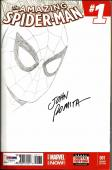 John Romita Sr. AMAZING SPIDERMAN #1 Signed ORIGINAL Sketch Comic PSA/DNA COA