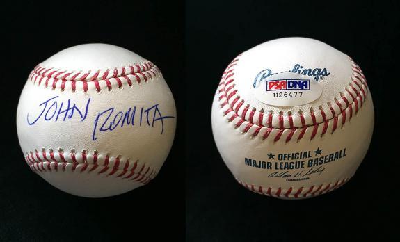 John Romita SR SIGNED ROMLB Baseball Spider-Man Marvel RARE PSA/DNA AUTOGRAPHED