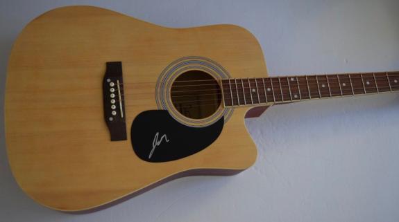 John Rzeznik Johnny Signed Autographed Acoustic Guitar GOO GOO DOLLS COA