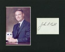 John S. Bull Apollo 8 Support Crew NASA Astronaut Signed Autograph Photo Display