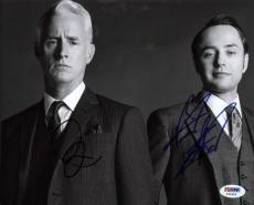 John Slattery & Vincent Kartheiser - Mad Men Signed 8x10 Photo Psa/dna #y42418