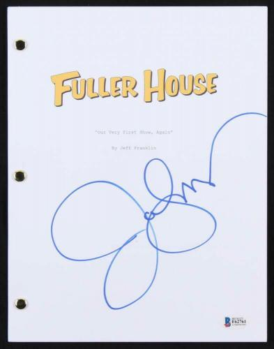 JOHN STAMOS AUTOGRAPHED FULLER HOUSE EPISODE 1 OUR VERY 1st SHOW, AGAIN BECKETT