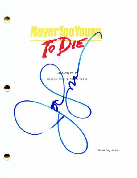 John Stamos Signed Autograph Never Too Young To Die Full Movie Script - Rare!