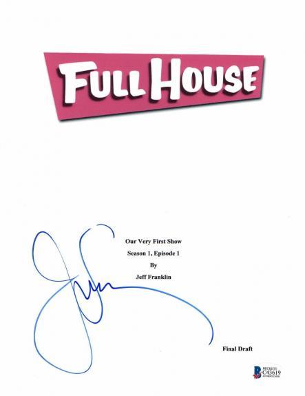 John Stamos Signed 'full House' Full Script Screenplay Authentic Auto Beckett