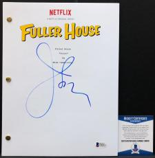 "John Stamos Signed ""Fuller House"" Full Movie Script BAS Beckett D86631"