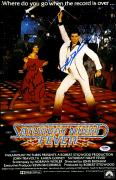 "John Travolta And Karen Gorney Autographed 11"" x 17"" Saturday Night Fever Movie Poster - PSA/DNACOA"