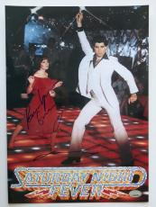 John Travolta and Karen Lynn Gorney Signed SNF 10x14 Photo (PSA/DNA) #J81770