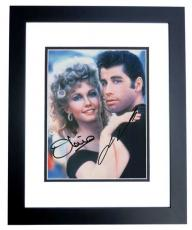 John Travolta and Olivia Newton John Autographed GREASE 8x10 Photo BLACK CUSTOM FRAME