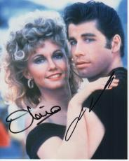 John Travolta and Olivia Newton John Autographed GREASE 8x10 Photo