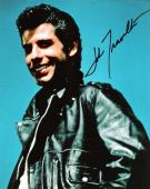 "JOHN TRAVOLTA as DANNY in ""GREASE"" Signed 8x10 Color Photo"
