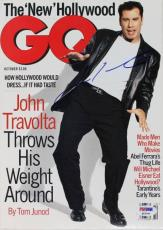 John Travolta Signed 1995 Gq Magazine PSA/DNA #Q12341