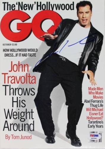 John Travolta Signed 1995 Gq Magazine PSA/DNA #Q12341