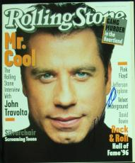 John Travolta Authentic Signed 1996 Rolling Stone Magazine JSA #Q03428