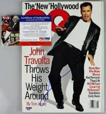 John Travolta Signed Autographed Gq Magazine PSA/DNA #D00326