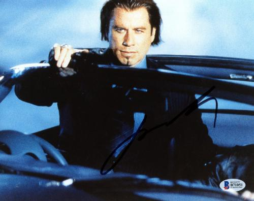 "John Travolta Autographed 8"" x 10"" Wearing Suit Photograph - Beckett COA"