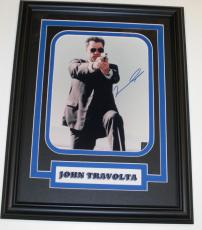 John Travolta Autographed 8x10 Photo ~ Custom Framed