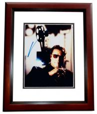 John Travolta Autographed 8x10 Photo MAHOGANY CUSTOM FRAME