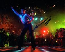 John Travolta Autographed 8x10 Saturday Night Fever Photo AFTAL